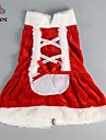 Cat / Dog Dress Red Winter Bowknot Christmas / New Year\'s