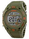 Hommes Bracelet Montre Numerique LCD / Calendrier / Chronographe / Etanche / penggera / Montre de Sport Caoutchouc Bande Noir / Vert