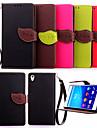 소니 XPERIA 고품질의 지갑 카드 홀더 PU 가죽 플립 케이스 커버 Z4 / Z3 / Z3 미니 / E3 / E4 (모듬 색상)