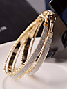Earring Hoop Earrings Jewelry Women Wedding / Party / Daily / Casual Alloy 2pcs Gold / Silver