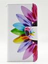 motif colore petale pu leahter cas de tout le corps avec fente pour carte lumia 640 microsoft