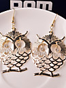 Earring Animal Shape / Owl Drop Earrings Jewelry Women Wedding / Party / Daily / Casual Alloy 2pcs Gold / Silver