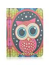 big-eyed padrao da coruja rotacao de 360 graus de alta qualidade de couro pu com suporte para tablet caso universal de 10 polegadas