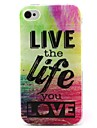 Life Pattern TPU Material Soft Phone Case for iPhone 4/4S