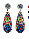 Retro Pastoral Handmade Vintage Crystal Bohemian Style Earrings(1 pair)(Assorted Colors)