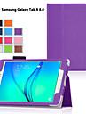 용 삼성 갤럭시 케이스 스탠드 / 플립 케이스 풀 바디 케이스 단색 인조 가죽 Samsung Tab A 9.7 / Tab A 8.0