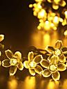 forme de fleur de lumiere Gmy noel 50LED lumiere solaire blanc chaud / blanc froid melanger la couleur /
