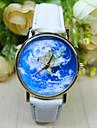 Unisex World Map Style Watch/Vintage World Map/Antique World Map/ Ladies Watch/ Women Premium Faux Leather Wristwatch