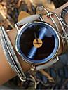 Mulheres Relogio de Moda Bracele Relogio Quartzo PU Banda Vintage Flor Cinza Cinzento