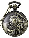 Fashion Locomotive Shape Vintage Alloy Quartz Analog Pocket Watch With Chains  (1 x LR626) Cool Watch Unique Watch