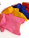 Cat Dog Rain Coat Red Yellow Blue Pink Dog Clothes Summer Spring/Fall Solid Casual/Daily