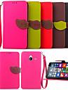 Pour Coque Nokia Portefeuille Porte Carte Avec Support Coque Coque Integrale Coque Couleur Pleine Dur Cuir PU pour NokiaNokia Lumia 730