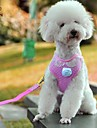 FUN OF PETS® Lovely Pink Lace Collar Harness with Leash for Pets Dogs(Assorted Sizes)