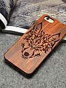 Caso del iphone de madera Timberwolves bosque del totem del lobo duro cubierta posterior para el iPhone 5 / 5s / SE
