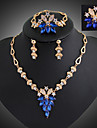 Women Vintage / Party / Casual Alloy / Gemstone & Crystal / Cubic Zirconia Necklace / Earrings / Bracelet / Ring Sets/Flower Brooch