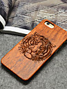 Wooden iphone Case Tiger Carving Concavo Convex Hard Back Cover for iPhone 5/5s