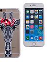 modelo de la jirafa delgada caja del telefono suave material de TPU transparente para el iphone 6