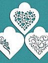 Valentine\'s Gift Contemporary Hearts Cookie Stencil for Cake Decorating,ST-671
