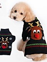 FUN OF PETS®-Dog Costumes/Dog Sweaters-XXS/XS/S/M/L/XL-Autumn/Winter-Black-Christmas