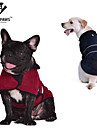 Cat Dog Coat Vest Red Green Blue Brown Dog Clothes Winter Spring/Fall Solid Keep Warm Windproof
