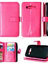 Pour Samsung Galaxy Coque Porte Carte Portefeuille Avec Support Clapet Coque Coque Integrale Coque Couleur Pleine Cuir PU pour SamsungJ5