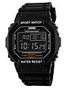 Męskie Zobacz Cyfrowe Sportowy LCD / Kalendarz / Chronograf / Wodoszczelny / alarm / Sportowy Guma Pasmo Zegarek na nadgarstek
