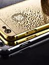 Pour Coque iPhone 5 Plaque Miroir Coque Coque Arriere Coque Couleur Pleine Dur Metal pour iPhone SE/5s/5