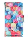 Para Samsung Galaxy Capinhas Porta-Cartao / Carteira / Com Suporte / Flip Capinha Corpo Inteiro Capinha Estampa Geometrica Couro PU
