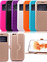For iPhone 6 Case / iPhone 6 Plus Case with Stand / with Windows / Flip / Pattern Case Full Body Case Geometric Pattern Hard PU Leather