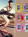 colorido cubierta ejercicio gimnasio con entrenamiento cinta sintonizar corriendo brazalete deportivo para el iphone 4 / 4s (colores