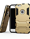 For iPhone 6 Case / iPhone 6 Plus Case Shockproof / with Stand Case Back Cover Case Armor Soft TPU iPhone 6s Plus/6 Plus / iPhone 6s/6