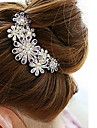 Women\'s Diamond Flower Hair Stick Comb Bob (10*8.5CM)