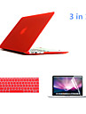 "3 in 1 Full Body Hard Cases with Keyboard Cover and HD Screen Protector for Macbook Pro 13.3"" (Assorted Colors)"
