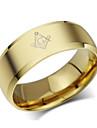 Классические кольца Титановая сталь Мода Золотой Бижутерия Для вечеринок Повседневные 1шт