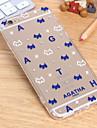 o novo caso tampa de acrilico cao colar de diamantes para iphone6 6s / iphone (cores sortidas)