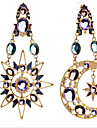 Earring Drop Earrings Jewelry Women Cubic Zirconia / Gold Plated 2pcs Silver