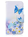 For Samsung Galaxy Case Card Holder / Wallet / with Stand / Flip Case Full Body Case Butterfly PU Leather SamsungS6 edge plus / S6 edge /