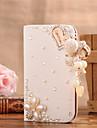 Для Кейс для  Samsung Galaxy Бумажник для карт / Стразы / Флип Кейс для Чехол Кейс для С сердцем Искусственная кожа SamsungS7 edge / S7 /