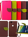 KARZEA™ Leaf Snap PU Full Body Case with TPU Back Cover Stand for Huawei Nexus 6P(Assorted Colors)