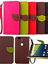 feuilles karzea SNAP ™ PU cas complete du corps avec Coque arriere en TPU tenir pour Huawei Nexus 6p (couleurs assorties)