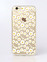 Pour iPhone X iPhone 8 iPhone 6 iPhone 6 Plus Etuis coque Motif Coque Arriere Coque Fleur Flexible PUT pour iPhone X iPhone 8 Plus iPhone
