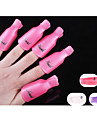 10PCS Plastic Nail Art Soak Off  Nail Clip Resurrection Tool  Random Color