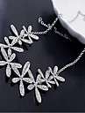 Women\'s Statement Necklaces Snowflake Rhinestone Alloy Birthstones Costume Jewelry Jewelry For Wedding Party Daily Casual