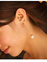 Boucles d\'oreille goutte Bijoux Femme Imitation de perle 2pcs Argent