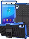 TPU + PC hibrido armadura de borracha resistente ficar casos de capa dura para Sony Xperia m4 do aqua