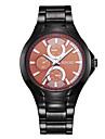 SINOBI Men's Fashion Casual  Quartz Movmt Black Band Watches Cool Watch Unique Watch