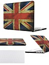 "2 in 1 Uk Flag Rubberized Full Protective Hard Case Cover for MacBook Pro13""/15"" +Transparent Keyboard Cover"