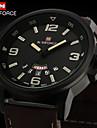 Herren Armbanduhr Japanischer Quartz Wasserdicht Leder Band Marke-