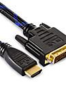 shengwei® HDMI male hdc cable dvi male pour ecran LCD LED HDTV 1080p 1.8m 3m 5m 10m