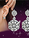 Lureme®  Korean Fashion Studded With Drill 925  Sterling Silver Twin Hypoallergenic Earrings